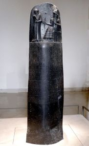 """P1050763 Louvre code Hammurabi face rwk"" by Unknown - Mbzt 2011. Licensed under Creative Commons Attribution 3.0 via Wikimedia Commons"