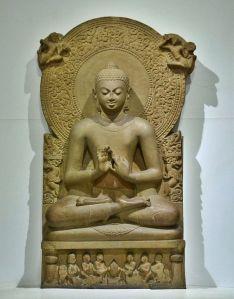 """""""Buddha in Sarnath Museum (Dhammajak Mutra)"""". Licensed under Creative Commons Attribution-Share Alike 3.0 via Wikimedia Commons"""