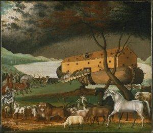 """Noahs Ark"" by Edward Hicks - http://www.cs.berkeley.edu/~aaronson/zoo.html. Licensed under Public domain via Wikimedia Commons"